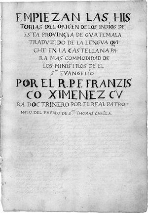 Ximénez, Francisco (1666-ca. 1730)