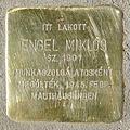 Engel Miklós stolperstein (Budapest-13 Csanády u 18).jpg