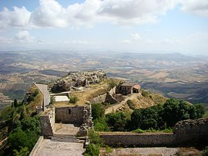 Blick vom Castello di Lombardia