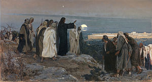 "Palm Sunday - ""Flevit super illam"" (He wept over it); by Enrique Simonet, 1892."