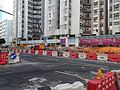 Entrance and exit D2 of Whampoa Station under construction in January 2016.jpg