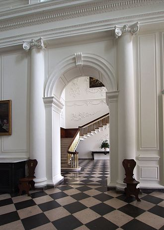 Castletown House - Image: Entrance hall and staircase castletown house