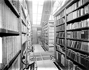 Leiden University Library - Depot of the Leiden University Library in ca. 1900