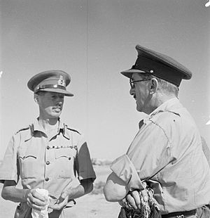 Eric Dorman-Smith - Major-General Dorman-Smith talking with the CIGS, General Sir Alan Brooke at El Alamein, Egypt, August 1942.