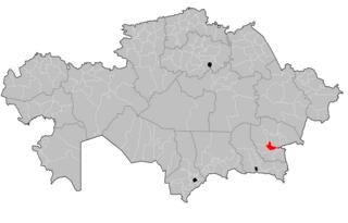 Eskeldi District District in Almaty Region, Kazakhstan