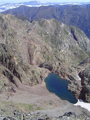 Montcalm Massif - The Estany de Canalbona located in the massif