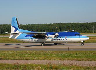 Estonian Air - A former Estonian Air Fokker 50 in 2002