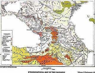 Северный Кавказ Википедия Этнографическая карта Кавказа Элизе Реклю