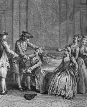 Eugenie (play) - Scene from the final act of Eugénie.