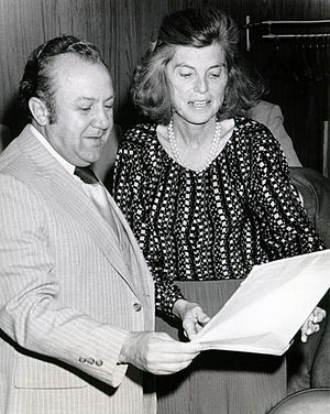 Zurab Tsereteli with Eunice Kennedy Shriver