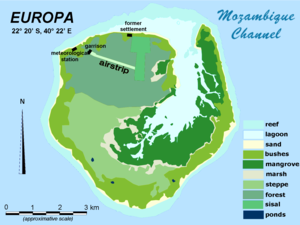 Europa Island - Image: Europa Island Map en