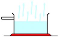 Water evaporating