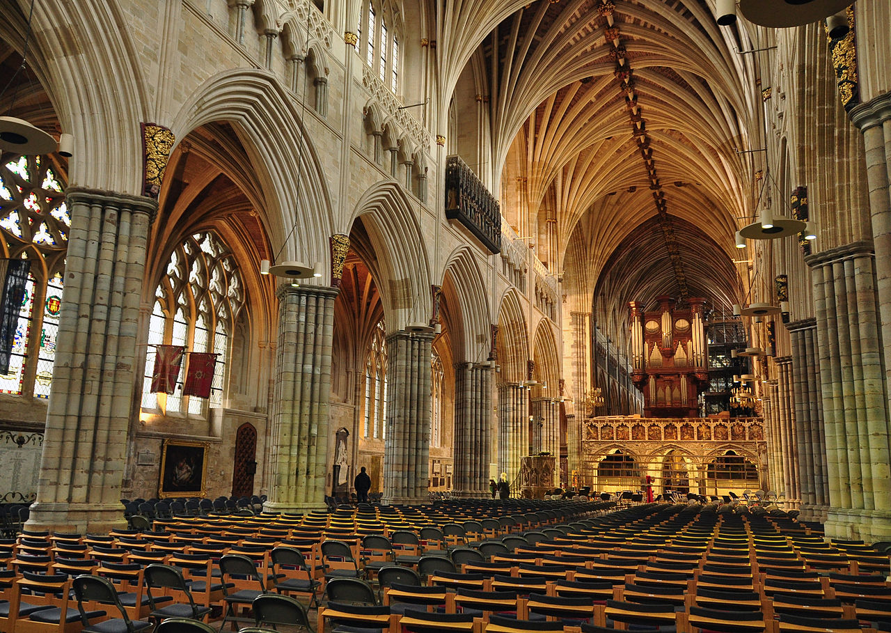 File exeter cathedral interior wikimedia commons for Catedral de durham interior