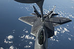 F-22 Raptor conducts aerial refueling with a KC-135 Stratotanker over the Baltic Sea - 150904-F-XT249-089.jpg