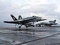 FA-18C Hornet of VMFAT-101 lands on USS Abraham Lincoln (CVN-72) on 17 March 2018 (180317-N-FK070-0120).JPG
