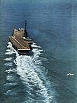 FJ-3M Fury of VF-121 approaches USS Lexington (CVA-16) in 1957.jpg