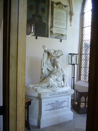 Joseph Nollekens - 'Faith' in Wetheral Parish Church, Cumbria. Commissioned by Henry Howard after the death of his wife Maria in 1788.