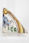 Fajans, kakelfragment - Hallwylska museet - 90458.tif