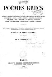 Ernest Falconnet: Les Petits poèmes grecs