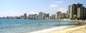 Turkish invasion of Cyprus - Varosha (Maraş), a suburb of Famagusta, was abandoned when its inhabitants fled in 1974 and remains under military control