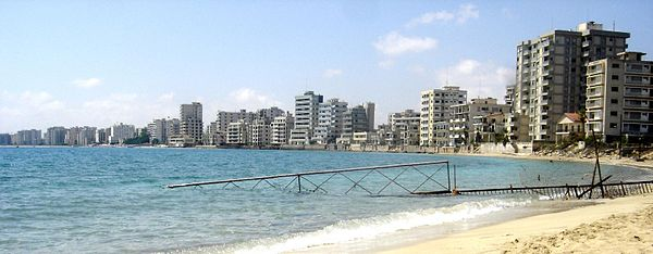 Prior to the Turkish invasion of Cyprus in 1974, Varosha, now falling into ruin, was once a modern tourist area.