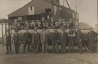 Sheriff Hill - The workforce at Fanny Pit, Sheriff Hill in 1921