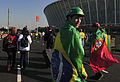 Fans before Brazil & Portugal match at World Cup 2010-06-25 4.jpg