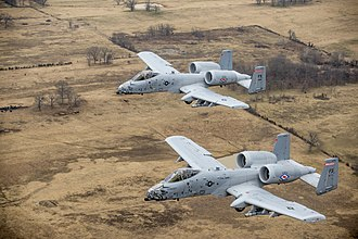 Fairchild Republic A-10 Thunderbolt II - Two A-10s in formation