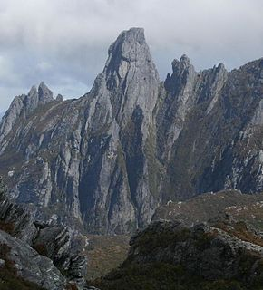 Federation Peak mountain in Tasmania, Australia