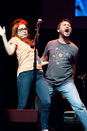 Felicia Day - Image: Felicia Day and Wil Wheaton w 00tstock