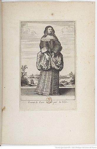 Wenceslaus Hollar - Image: Femme de Paris allant par la ville