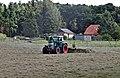 Fendt 412 Vario haymaking in Sandkrug.jpg