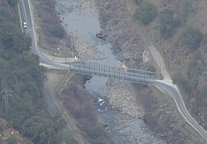 Ferguson landslide - The downstream temporary bridge