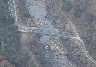 Ferguson landslide - The downstream temporary bridge