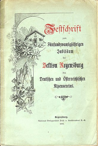 Festschrift - A cover of a festschrift from 1895