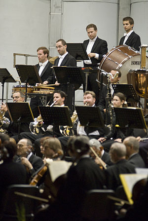 Brno Philharmonic - Brno Philharmonic during the 2010 Špilberk festival.