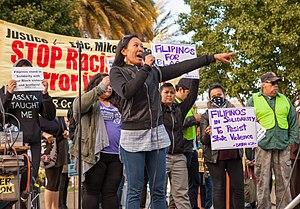 Bagong Alyansang Makabayan - Members of Bayan USA and GABRIELA USA protest against police violence in San Francisco