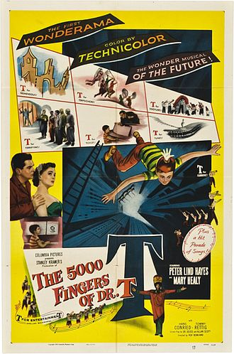 The 5,000 Fingers of Dr. T - Theatrical release poster