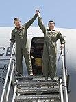 Fini flight for Lt. Cols. Van Hoof, Middleton and Paine 150604-F-RU983-182.jpg