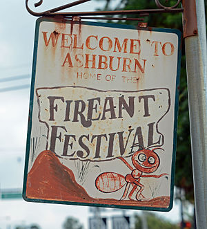 Ashburn, Georgia - Sign for the Fire Ant Festival