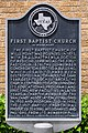 First Baptist Church of Wills Point Historical Marker.jpg