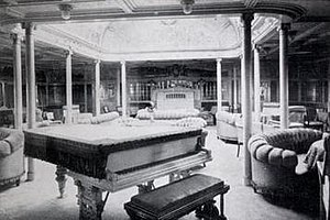 SS Kaiser Wilhelm II - The First Class Drawing Room