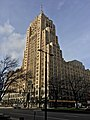 Fisher Building as seen from West Grand Boulevard in front of Cadillac Place, New Center, Detroit - 20201215.jpg