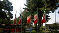 Flag of Iran in the Nishapur Railway Station square 01 1.JPG