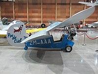 "A Mignet HM-14 ""Flying Flea"" Pou du Ciel at MOTAT in Auckland"
