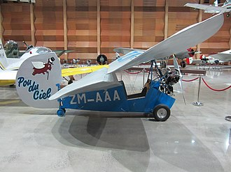 Mignet HM.14 - Side view of an HM.14 on display at MOTAT in Auckland