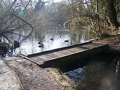 Footbridge in Manor Park Country Park - geograph.org.uk - 1145712.jpg