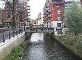 Footbridge over the Hogsmill River - Kingston - geograph.org.uk - 621135.jpg