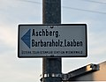 Footpath sign, St. Christophen, Neulengbach.jpg