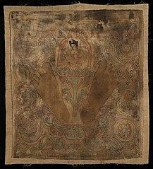 Karmapa with his footprints